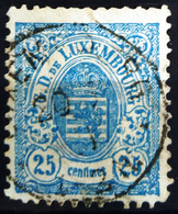 LUXEMBOURG                         N° 45                           OBLITERE - 1859-1880 Coat Of Arms