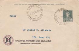 CIRCULO DE AJEDREZ DE VILLA DEL PARQUE, CHESS ECHECS. ARGENTINE ENTIER, CIRCULEE 1932 FRAY LUIS BELTRAN -LILHU - Scacchi