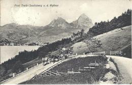 CPA Suisse - Uri * Post Treib-Seelisberg U. D. Mythen * - UR Uri