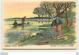 N°13517 - Pêche D'Eau Douce - Tanches Et Carpes, à La Nasse - Pesca