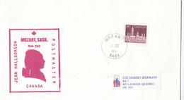 CANADA : Lettre Pour La France Oblitérée De Mozart 1986 Avec Effigie Du Musicien - Cartas