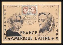 0942/ Carte Maximum (card) France N°1060 France-Amérique Sculpture Péruvienne (perou Peru) Fdc (premier Jour) 1956 - 1950-59