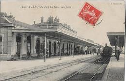 Is Sur Tille : La Gare, Les Quais - Is Sur Tille