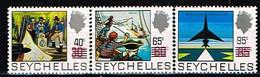 SEYCHELLES / Neufs**/MNH**/ 1972 - Histoire Des Seychelles Surchargé / YVT N°288/290 - MI.N°296/298 - Seychelles (...-1976)