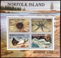 Norfolk Island 1986 Marine Life Fish Minisheet MNH - Meereswelt