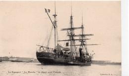 """Bateaux Trois-Mâts Voilier Morutier Terre-Neuvier """"La Manche"""" En Départ Pour L'Islande Remorqueur - Veleros"""