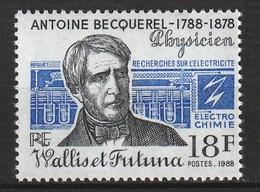 WALLIS Et FUTUNA - N°383 ** (1988) Antoine Becquerel - Unused Stamps