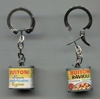 2 Porte-clefs Buitoni Ravioli Sauce Italienne Et Sauce Américaine - Key-rings