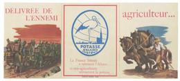 Dépliant Pub 3 Volets Potasse D'Alsace, Patriotique, Soldats, Tank, Signée P. Mantes ( Cigogne Hansi ) - Publicités