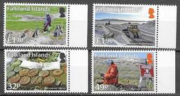 FALKLAND ISLANDS, 2020, MNH, DEMINING, MINES, PENGUINS, 4v - Militaria