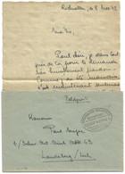 Sk1078 - Ambulant STRASSBURG MULHAUSEN C - 1942 - Franchise Pour Alsacien - Correspondance En FRANCAIS - - Alsace Lorraine