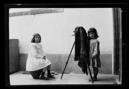 PORTUGAL - PORTO - FAMILIA PORTUENSE? - RARE 1900'S PHOTO NEGATIF - NEGATIVE - 6 Cm X 9 Cm - 69 - Antiche (ante 1900)