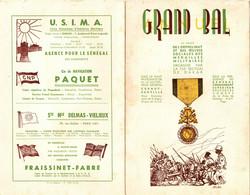 MEDAILLES MILITAIRES 158 EM SECTION DAKAR . GRAND BAL + TARIFSBOISSONS TABACS - Documents