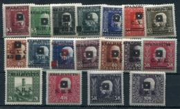 YUGOSLAVIA 1919 SHS (Bosnia) Portrait Definitives LHM/*.  Michel 33-50 - Unused Stamps