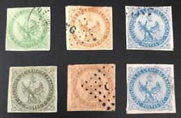 COLONIES ÉMISSIONS GÉNÈRALES 1859 - 1865 - OBLITÉRÉ - Lot AIGLE - De 1 Et 4 - Águila Imperial