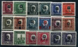 YUGOSLAVIA 1919 SHS (Bosnia) Portrait Definitives MNH / **.  Michel 33-50 - Unused Stamps