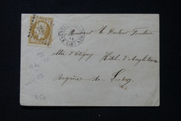 FRANCE - Enveloppe De Bagnères De Luchon En Local En 1861, Affranchissement Napoléon 10ct, PC 229 - L 88466 - 1849-1876: Periodo Classico