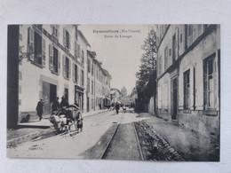 EYMOUTIERS 87 Haute Vienne ROUTE De LIMOGES Carte Postale Ancienne CPA Animee - Eymoutiers