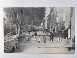 MEYRUEIS 48 Lozere PLACE SULLY Enfants Enfant Commerces Commerce Carte Postale Ancienne CPA Animee Postcard - Meyrueis