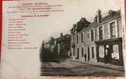 Cpa 12 VILLEFRANCHE - De- ROUERGUE .- Agence De La Société Générale - Villefranche De Rouergue
