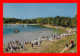 CPSM/gf (24) MONPAZIER.  Le Plan D'eau Et Le Camping De Veronne, Animé, Majorette...M479 - Autres Communes