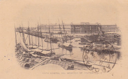 VISTA GENERAL DEL MERCADO DE FRUTOS. ARGENTINE ENTIER CIRCULEE 1894, BUENOS AIRES -LILHU - Ganzsachen