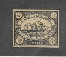 Timbre D' Egypte ( Canal De Suez ) - Neuf Sans Gomme – Noir - Très Bon état → Voir Les 2 Photos ( Recto-verso ) - Ohne Zuordnung