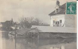 Carte-photo - LE PERREUX-SUR-MARNE (Seine Et Marne)  - Au MOULIN De BRY Apres Les Inondations (en L' état) - Le Perreux Sur Marne