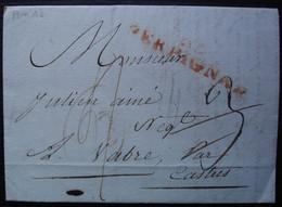 Perpignan L'an 13 Marque Orange 53 X 10 Sur Lettre Pour Vabre Par Castres Tarn - 1801-1848: Precursors XIX