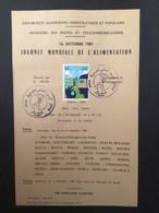 ALGÉRIE : Notice Philatélique - 1er Jour 1981 - Agriculture