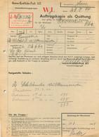 ROUBAIX GARAGE HERMANS AUFTRAGSKOPIE ALS QUITTUNG 08/1944 ORDRE DE REPARATION ALLEMAND - 1939-45