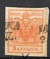 AUSTRIA 1850.- 3K YV Nº3. MACHINE PAPER . MARK JASZKA (15MP) - Usados