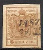 AUSTRIA 1850.- 6K YV Nº 4. MACHINE PAPER MARK JASZKA (15 MP) - Usados