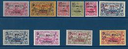 """Wallis YT 30 à 39 """" Tp  Nle Calédonie Surch. """" 1924-27 Neuf* - Unused Stamps"""