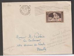 Affranchissement à 1F (timbre Croix Rouge) Oblitéré Machine Frankers Sur Lettre De Paris Pour Neuilly - Covers & Documents