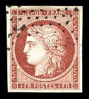 N°6, 1F Carmin, Faux De Sperati, Signé Sperati Au Dos. TTB (certificats)  Qualité: O - 1849-1850 Ceres