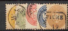 AUSTRIA 1863.- YV Nº 27/31 - Usados
