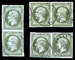 N°11, 1c Empire: 3 Paires Dont Une Verticale. TTB (signées)  Qualité: O  Cote: 675 Euros - 1853-1860 Napoleone III
