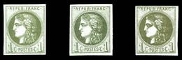 N°39C/Cb Et Cc(*), Les 3 Exemplaires TB  Qualité: *  Cote: 590 Euros - 1870 Emisión De Bordeaux