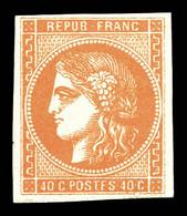 N°48, 40c Orange, Frais. TTB (signé Scheller/certificat)  Qualité: *  Cote: 750 Euros - 1870 Bordeaux Printing
