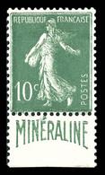 N°188A, Minéraline, 10c Vert, Bon Centrage, TB (certificat)  Qualité: *  Cote: 500 Euros - Ongebruikt