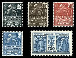 N°270/74, Série Expo Coloniale. TB  Qualité: **  Cote: 145 Euros - Unused Stamps
