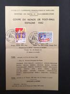 ALGÉRIE : Notice Philatélique - 1er Jour 1982 Coupe Du Monde Foot Ball - Other