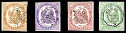 N°1/4, Série Complète De 1868, Les 4 Valeurs TB  Qualité: O  Cote: 995 Euros - Telegraaf-en Telefoonzegels