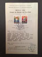 ALGÉRIE : Notice Philatélique - 1er Jour 1986 Coupe Du Monde Foot Ball - Other