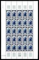 N°867/72, Série Célébrités Du XVIIIème Siècle En Feuilles Complètes De 25 Exemplaires, TTB (certificat)  Qualité: **  Co - Volledige Vellen