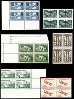 Ensemble De Timbres Neufs ** Principalement En Bloc De Quatre Dont N° 147 En Bloc De 6 Millesime '6' + N°252 (x4) Le Tra - Verzamelingen