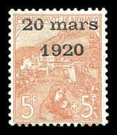 N°43, Mariage, 5F +5F ROSE FONCE Sur Verdâtre, Très Bon Centrage, FRAÎCHEUR POSTALE, SUPERBE (signé Champion/certificats - Ongebruikt