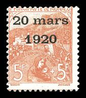 N°43, Mariage, 5F +5F Rose Sur Verdâtre Bdf, Grande Fraîcheur, SUPERBE (signé/certificats)   Qualité: *  Cote: 8330 Euro - Nuovi