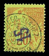 N°4a, 15c Sur 20c Brique Sur Vert, Surcharge Renversée. TB  Qualité: O  Cote: 500 Euros - Used Stamps